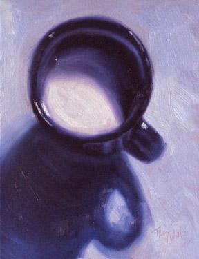 Milk Mug on Blue
