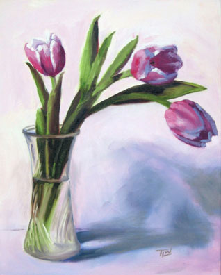 Paintings+of+tulips+in+a+vase