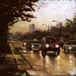 """Rainy Commute"" ©2011 Tracy Wall"