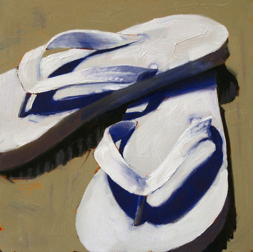 White Flip Flops ©2011 Tracy Wall
