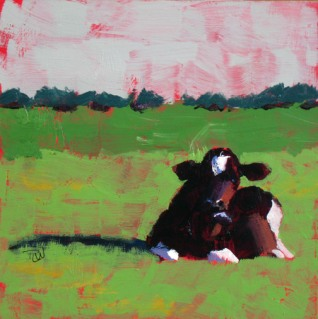 Cow Study #8, ©2012 Tracy Wall
