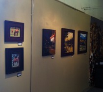 My Art hanging at Abend