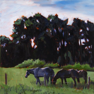 Grazing at Dusk, ©2012 Tracy Wall
