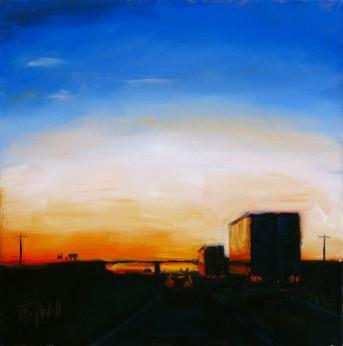 Sunrise on Hwy 40 ©2012 Tracy Wall
