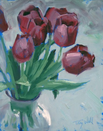 Rosy Tulips, ©2012 Tracy Wall