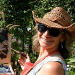 Me at Garden Painting Party 8-2012