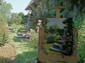 Phlox Steps - painting plein air