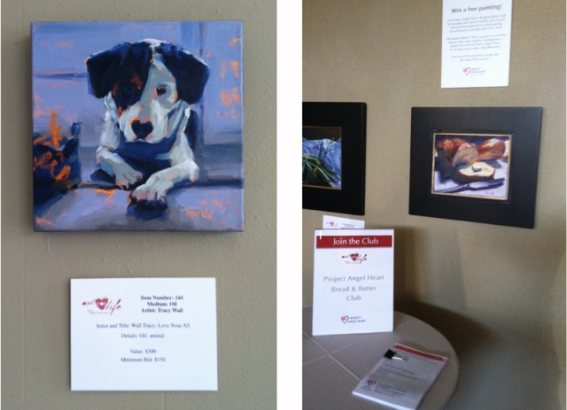 """""""Love Nose All"""" and """"Bread 'n Butter"""" were amongst the many pieces helping to support Project Angel Heart, 5/2013"""