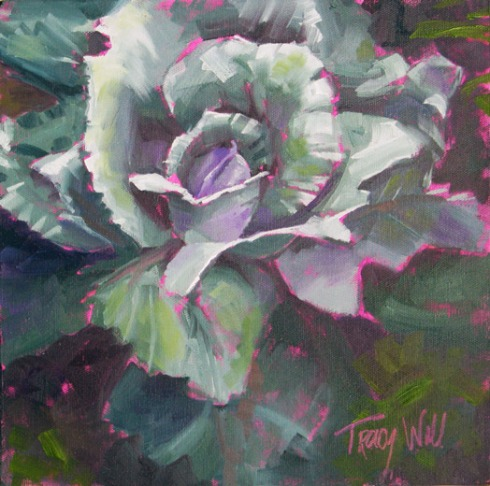Rosy Blue Cabbage, ©Tracy Wall
